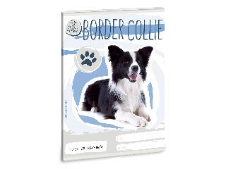Ars Una Cuki Állatok - Border Collie - A/5 négyzethálós füzet 2732