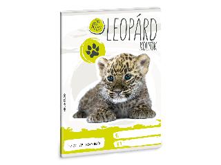Ars Una Cuki Állatok - Leopárd - A/5 négyzethálós füzet 2732