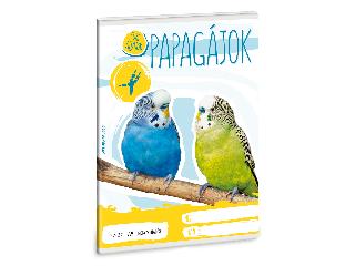 Ars Una Cuki Állatok - Papagáj - A/5 négyzethálós füzet 2732