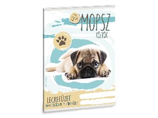 Ars Una Cuki állatok-Mopsz A/5 leckefüzet