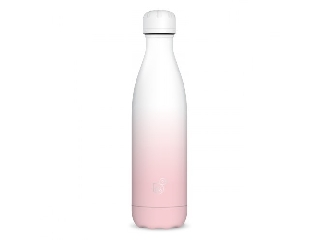 Ars Una duplafalú fémkulacs-500 ml - fehér-rózsaszín
