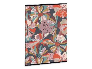 Ars Una Floral Collage A/4 extra kapcsos füzet-vonalas