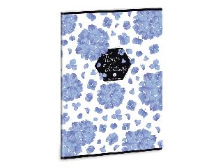 Ars Una Floral Hortensia A/4 extra kapcsos füzet-kockás