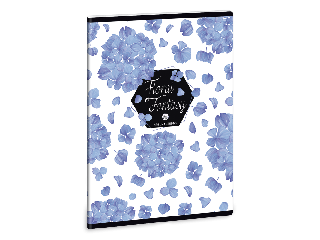 Ars Una Floral Hortensia A/5 extra kapcsos füzet-vonalas