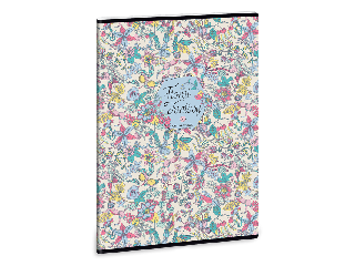 Ars Una Floral Jungle A/4 extra kapcsos füzet-kockás