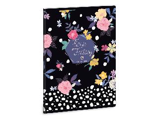Ars Una Floral Prism A/5 extra kapcsos füzet-szótár