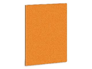 Ars Una glitter narancs A/4 extra kapcsos füzet kockás