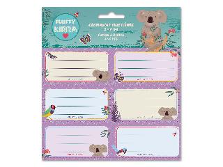 Ars Una Kirra Koala csomagolt füzetcímke (3x6 db)