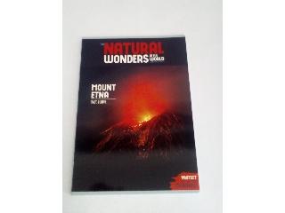 Ars Una Natural Wonders Mount Etna A/4 extra kapcsos kockás füzet