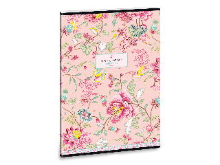 Ars Una Oriental-rose A/4 extra kapcsos füzet-négyzethálós