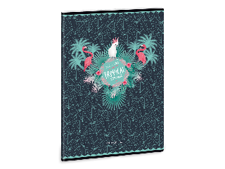Ars Una Pink Flamingo A/4 extra kapcsos füzet-vonalas
