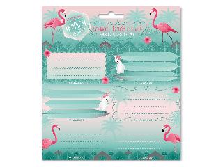 Ars Una Pink flamingo csomagolt füzetcímke (3*6 db)