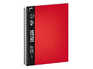 Ars Una piros A/4 College spirálfüzet-kockás