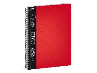 Ars Una piros A/4 College spirálfüzet-vonalas