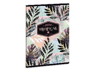 Ars Una Tropical Leaf A/5 extra kapcsos füzet-szótár
