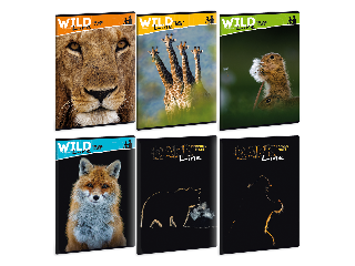 Ars Una Wild Life Moments A/4 extra kapcsos füzet-vonalas