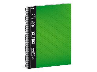 Ars Una zöld A/4 College spirálfüzet-vonalas