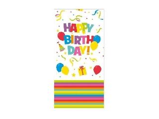 Asztalterítő 120 x 180 cm Happy Birthday