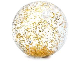 Átlátszó csillámos strandlabda 71 cm 3 +