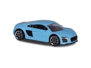 Audi világoskék kisautó matrica úttal