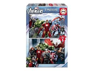 Avangers puzzle 2x100 darabos