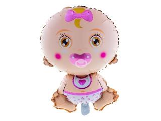 Baby Girl fólia lufi - 81 cm héliummal felfújva