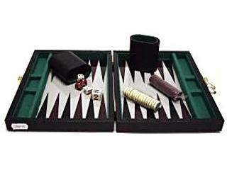 Backgammon, 23x17 cm fekete műbőr - 604066