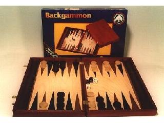 Backgammon, 35x23 cm-es sötétbarna fadobozban - 601119