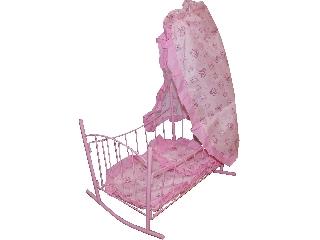 Baldachinos babaágy - rózsaszín