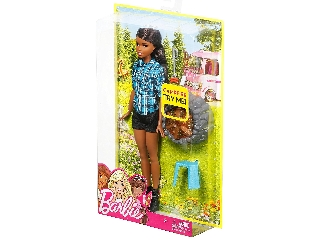 Barbie a tábortűznél (barna hajú barbie)