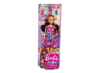 Barbie: bébiszitter baba - 29 cm Csillagos ruhában