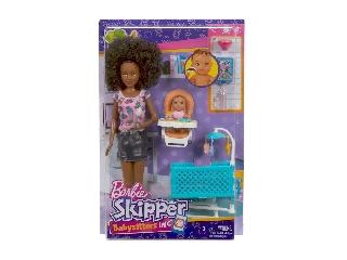 Barbie bébiszitter játékszett - Néger baba