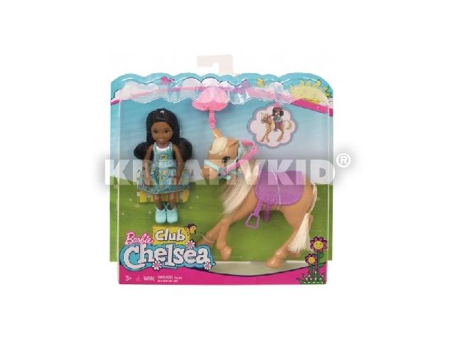 Barbie Chelsea baba pónival