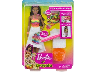 Barbie Crayola illatvarázs színezős baba