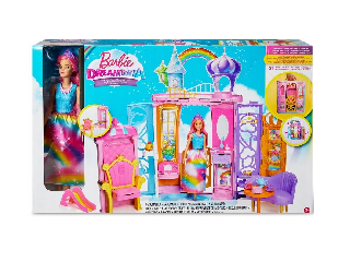 Barbie Dreamtopia kastély babával