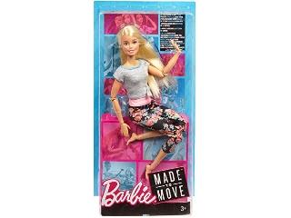 Barbie hajlékony jógababa szőkehajú 2019