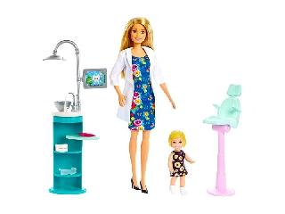 Barbie: Karrier játékszett - fogorvos Barbie
