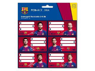 Barcelona csomagolt füzetcímke (3x6 db)
