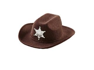 Barna Cowboy kalap sheriff csillaggal