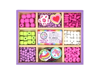 Bead Bazaar - Gyöngykészlet fa dobozban - Édes süti