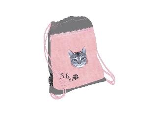 Belmil - Cute Cat hálós és zsebes tornazsák