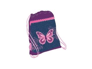 Belmil - Purple Flying Butterfly hálós és zsebes tornazsák
