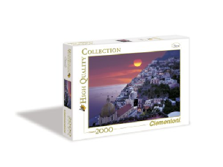 Bíbor naplemente Positanóban 2000 db-os puzzle
