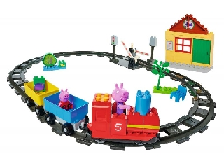 BIG-Bloxx Peppa malac mókás vonata építőjáték