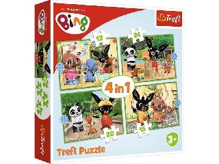 Bing 4 az 1-ben: 12, 15, 20, 24 db-os puzzle