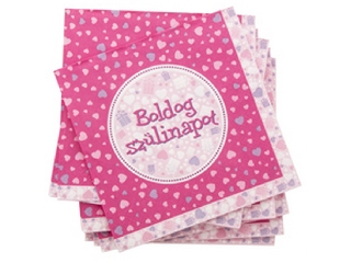 Boldog Születésnapot 16 darabos szalvéta - pink