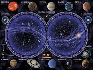 Bolygó térkép  1500 darabos