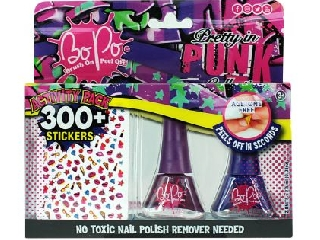 Bo-po 2 mini lakk+300 köröm matrica Punk