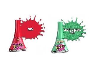 Bo-Po körömlakk 2 db-os - csillogó zöld-piros (Sweet Dreams, OMG)