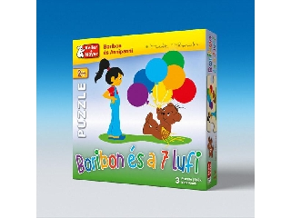Boribon és a 7 lufi puzzle (2, 4, 6 db-os)